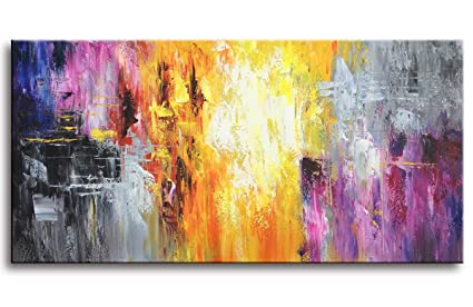 amazon com myarton hand painted contemporary art oil painting on