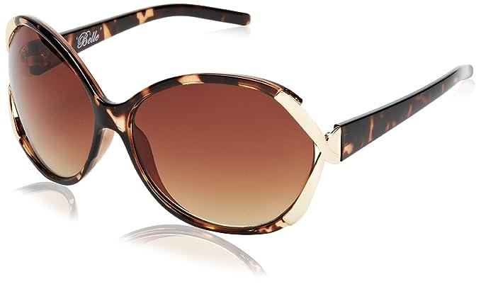 587b2d7adfe6 M:UK Women's Metal Side Twist Cutaway Sunglasses, Brown (Tortoise), One