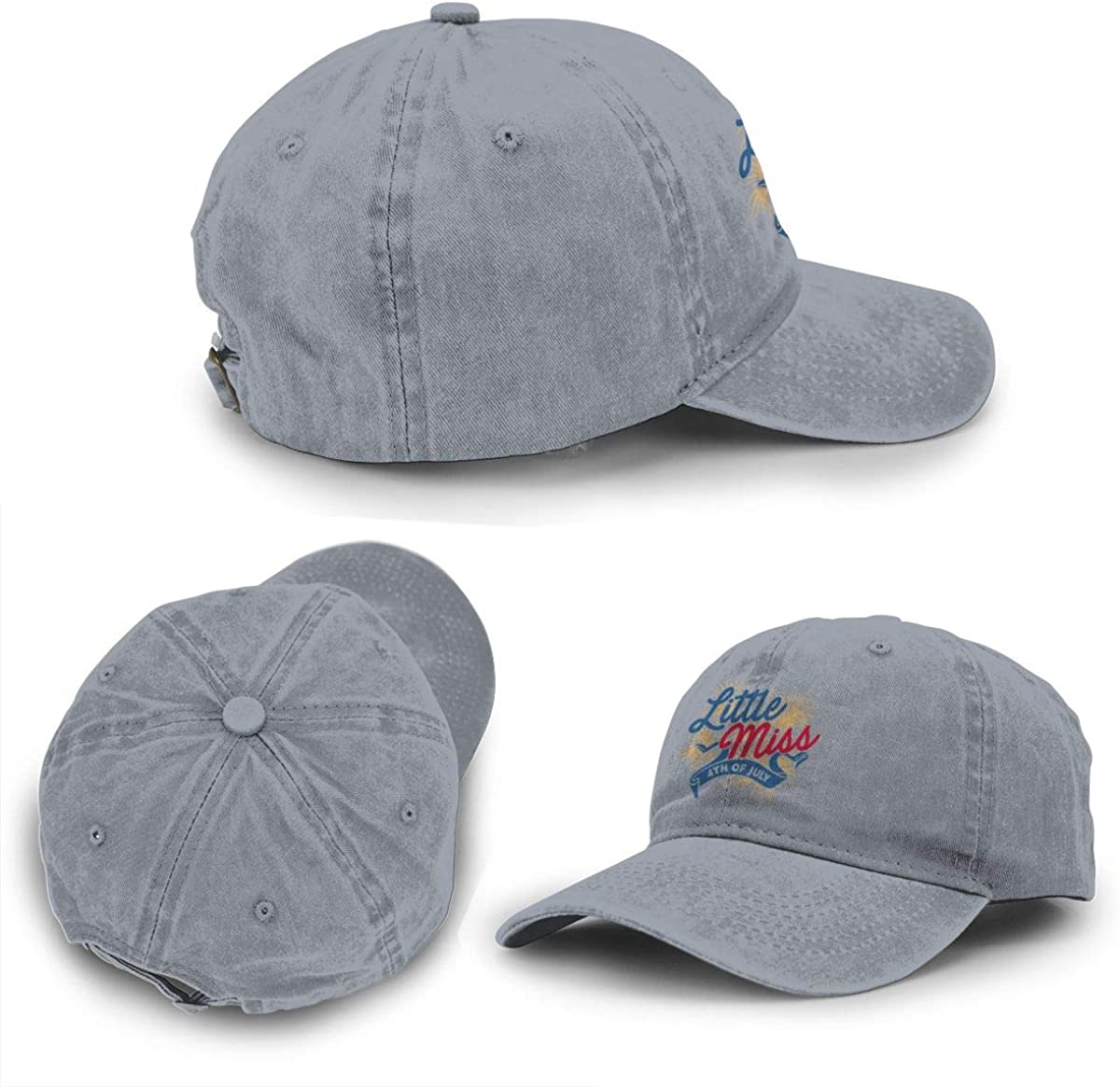 Little Miss 4th of July Unisex Adjustable Baseball Cap Cowboy Hat Sports Trucker Hat