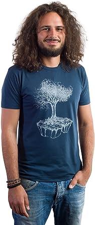 Life Tree Ropa Justa bambú Camiseta Hombre Birds Island de ...