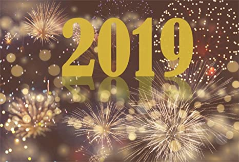 csfoto 8x6ft background for 2019 happy new year with fireworks photography backdrop winter abstract bokeh halos