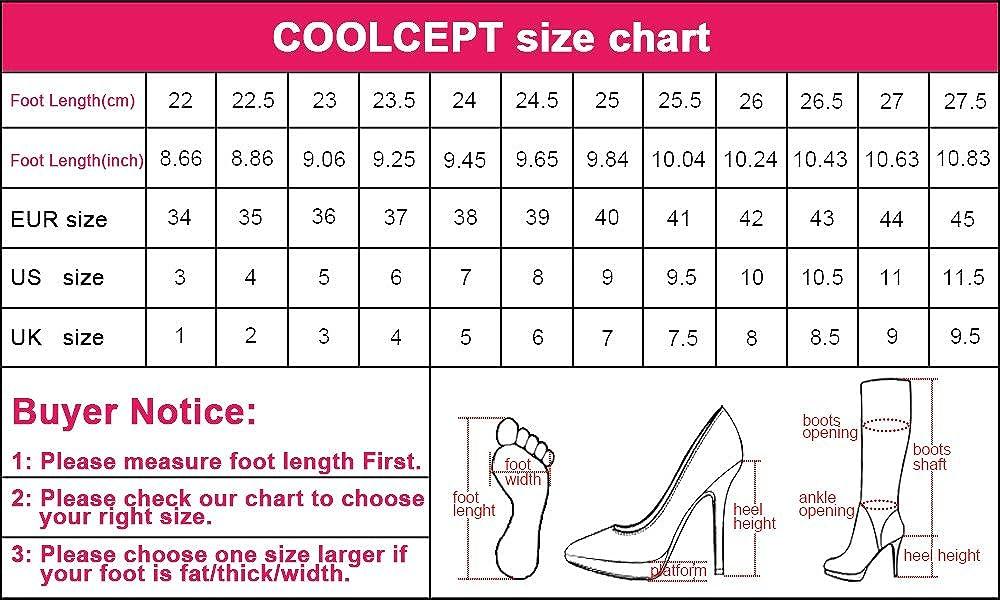 COOLCEPT Scarpe col Tacco da Donna Stiletto Peep Toe Avorio Piattaforma Scarpe  Avorio Toe 8cc3e8
