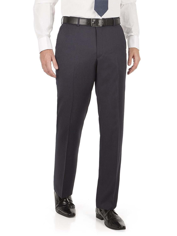 Scott & Taylor Navy Stripe Regular Fit Trouser 0043003 by Suit Direct