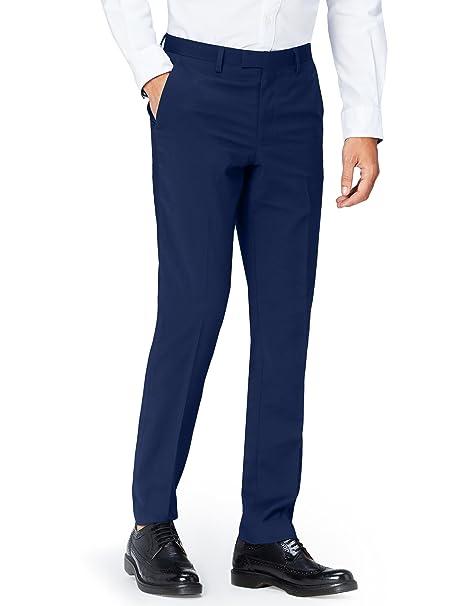 Marca Amazon - find. Pantalón de Traje Entallado para Hombre