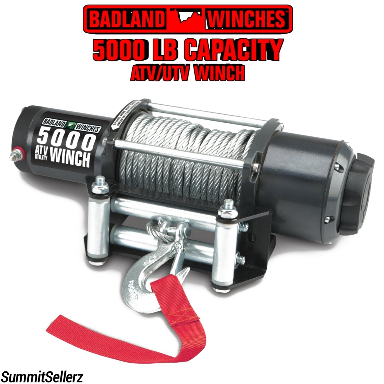 5000 lb. ATV/Utility Electric Winch with Automatic Load-Holding ...