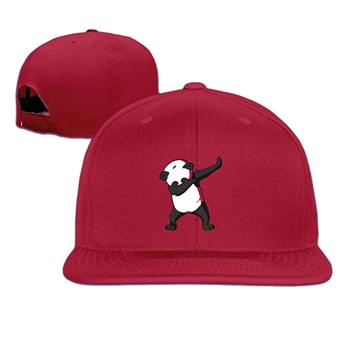 621757dbc1b Amazon.com  Unisex -DAB- Panda DAB snap-back structured cap Red One Size   Sports   Outdoors