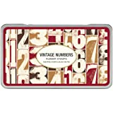 Cavallini Rubber Stamps Vintage Numbers, Assorted with Ink Pad