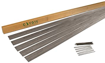Coyote Landscape Products 5 Piece Steel Home Kit Raw Steel Edging With 15  Edge Pins,
