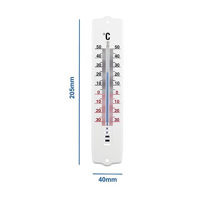 Term/ómetro de Interior y Exterior pl/ástico Color Blanco TFA 12.3009