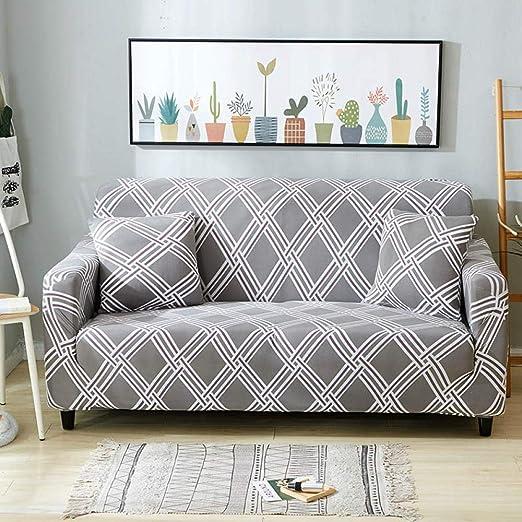 Funda Para Sofa,Funda de sofá elástica geométrica para sala ...