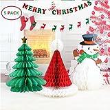 BTSD-home Christmas Decorations Paper Christmas tree Christmas hat snowman Merry Christmas Bunting Banner Flag Christmas Party Decoration( Merry Chritmas Letters+ Elk)