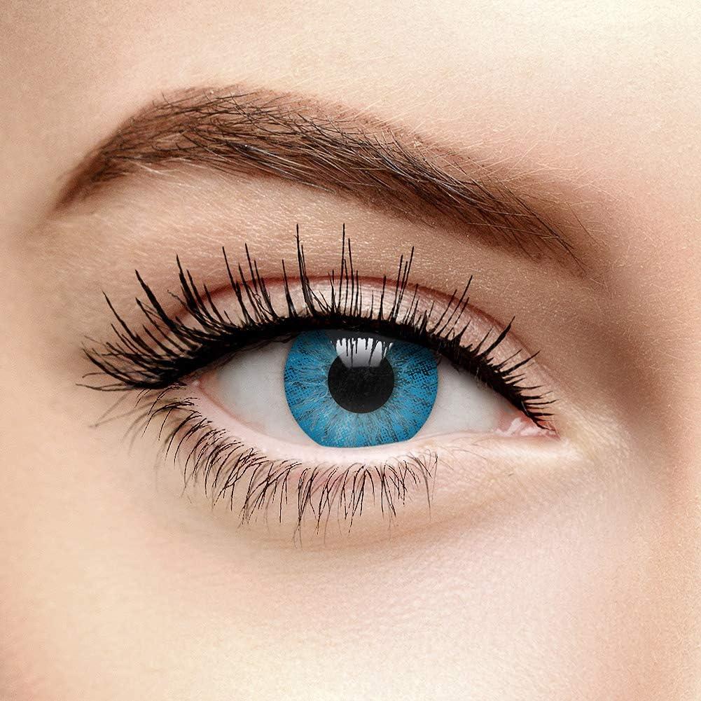 chromaview Lentillas de Color Azul Oscuro Un Tono (30 Días) - Sin Graduación