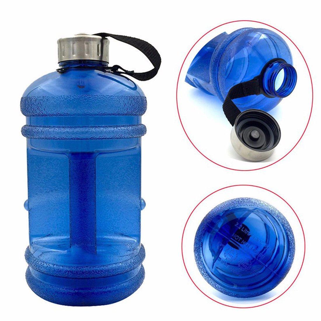 Botellas de agua deportivas de gran capacidad con tapa 2,2 l para deportes al aire libre