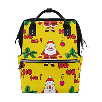 TIZORAX - Mochila para bebé con diseño de Papá Noel y Papá Noel, de gran