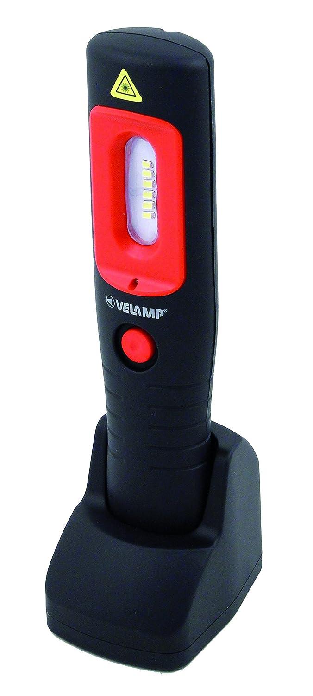 Velamp IS475 Handy Work Lampada da Lavoro, COB Ricaricabile, 3 W, Nero, 7x10x26.5 cm Velamp Industries SRL