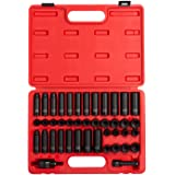 80 Piece SAE//Metric 3//8 Inch Drive Master Impact Socket Set 5//16 Sunex 3580