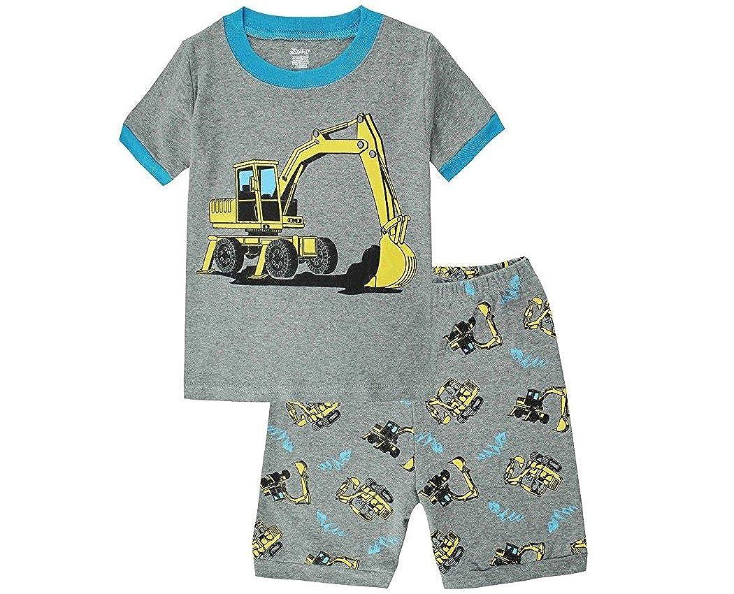 Babyliketractor Little Boys Shorts Sleepwear Pajamas T-Shirt /& Pants 100/% Cotton