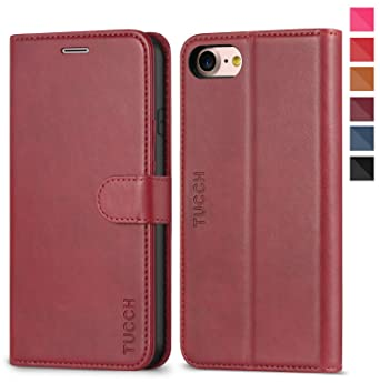 best loved 04ba8 0b869 iPhone 7 Case, iPhone 8 Case, TUCCH iPhone 7 Wallet Case Premium PU Leather  Case with TPU Inner Shell ,Magnetic Clasp, Kickstand, Hidden Pocket Card ...