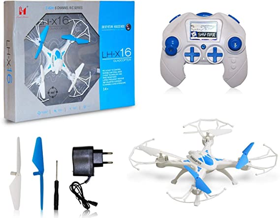 SUPER TOY 2.4G Drone RC 3D Flip 6Axis Gyro Quadcopter Flying Toy (Assorted) Remote Controlled Drones at amazon