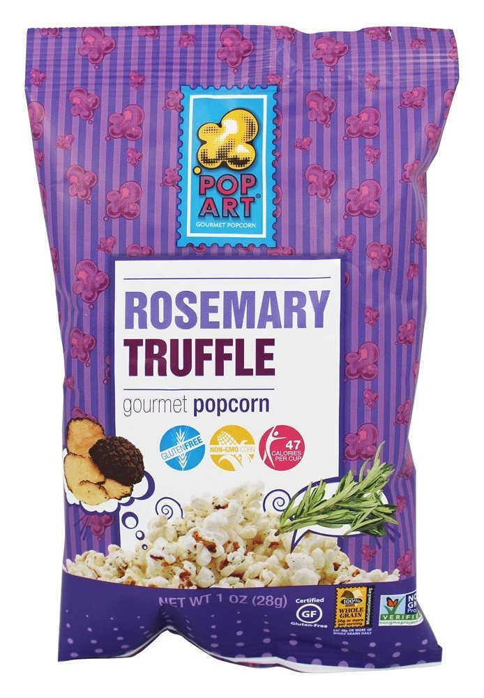 Pop Art Snacks Popcorn Rosemary Truffle, 1 oz, 24 Pack