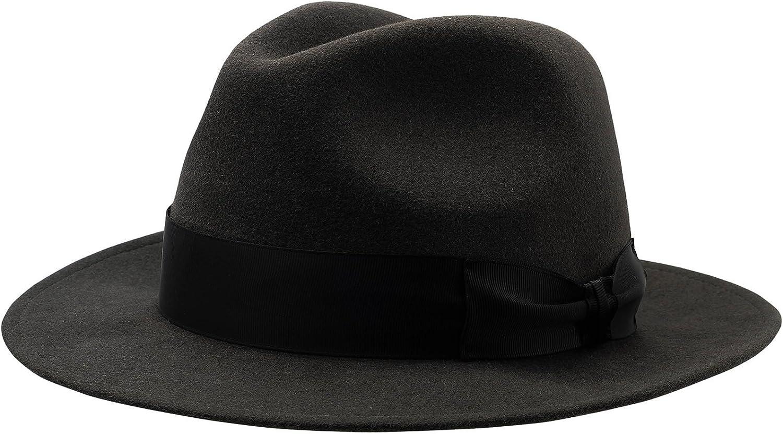 Sterkowski Rabbit Fur Felt Mens Classic Vintage Fedora Hat US 6 7//8 Gray