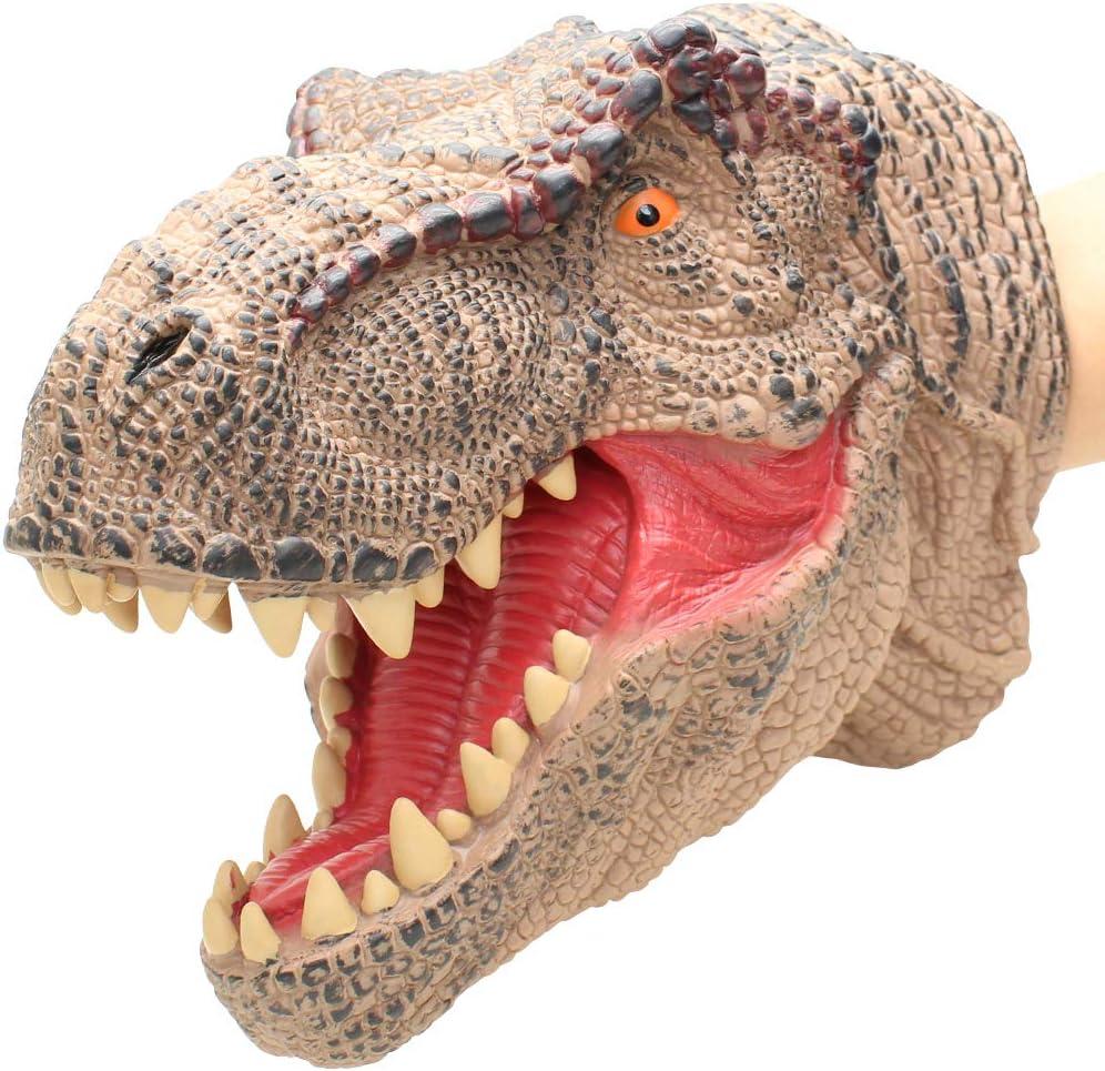 Lebze Caoutchouc Dinosaure marionnette à main T-Rex Tyrannosaurus réalistes Grand Musée de