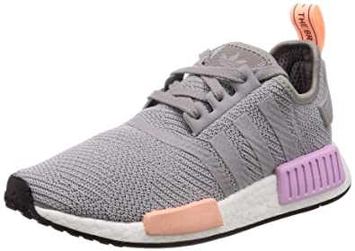 521d6020dc532 Adidas NMD R1 W Light Granite Light Granite Clear Orange 40  Amazon ...
