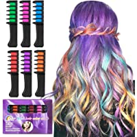6-Pcs. BATTOP Bright Hair Chalk Comb Set for Kids