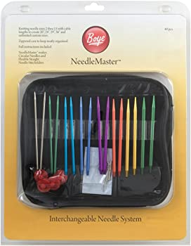 Needlemaster 40-Piece Interchangeable Aluminum Knitting Needles Set