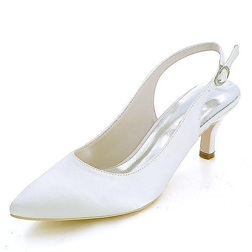 Scarpe Da Sposa Tacco 6.Elobaby Donna Scarpe Da Sposa Autunno Moda Fibbia Chunky Tacchi