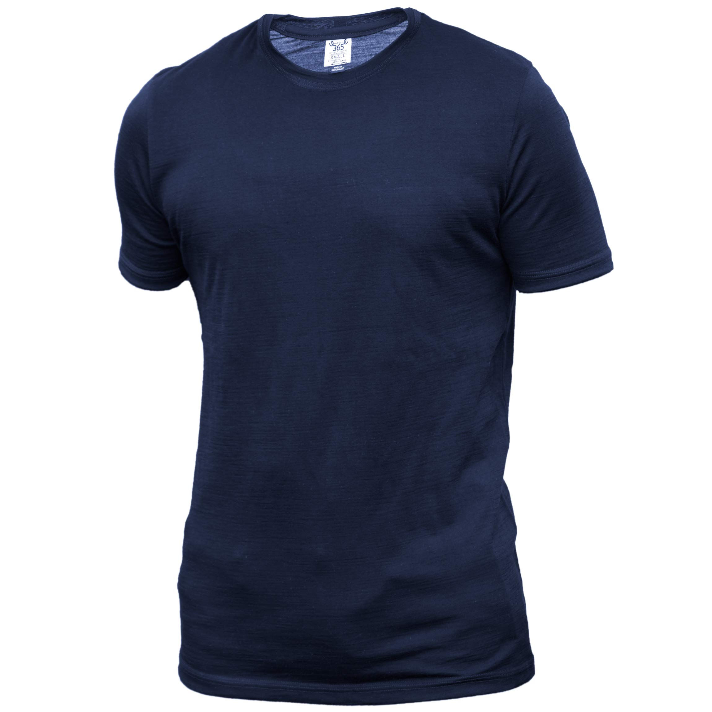 Merino 365 Men's Crew Short Sleeve Small, Navy by Merino 365