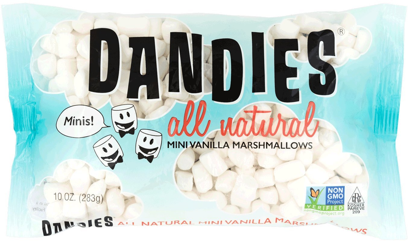Amazon Com Dandies Minis Vegan Marshmallows Vanilla 10 Ounce Pack Of 2 Grocery Gourmet Food