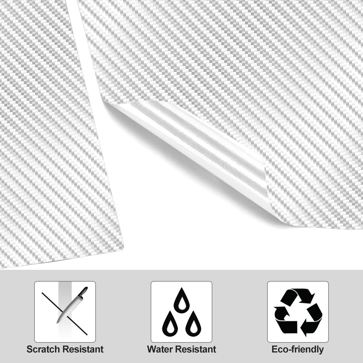 Fingerprints /& Dust White Center Console Wrap Kit for Tesla Model 3 Vinyl Sticker Protector Set with Extra Cup Holder Wrap for Preventing Scratches