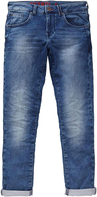 B-3090-DNM003 Petrol Industries Mittelblau Jungen Jeans Hose Slim fit Denim-Jeans mit verstellbarem Bund gef/üttert Petrol Ind