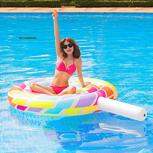 Piscina Inflable flotador Lollipop Inflable Juguete Anillo De ...