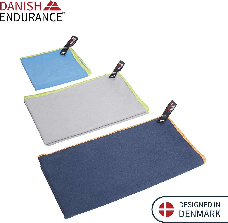Toallas de Microfibra Pack de 3 Small, Medium, Large//Azul Claro, Gris, Azul Gris/áceo
