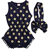 Baby Girl Clothes Gold Dots Bodysuit Romper...