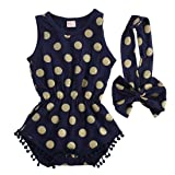 Baby Girl Clothes Gold Dots Bodysuit Romper