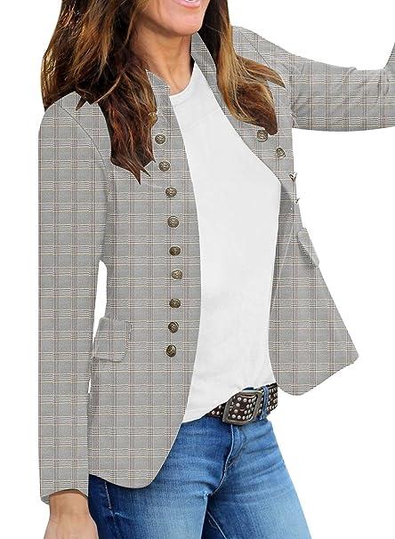 Amazon.com: Luvamia - Blazer de trabajo para mujer, con ...