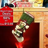 Codream Classic 3D Christmas Snowman Cartoon Stocking
