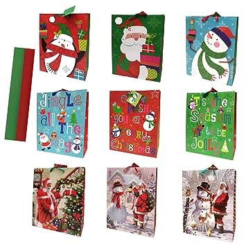 Amazon.com: Grandes bolsas de regalo de Navidad con tela ...