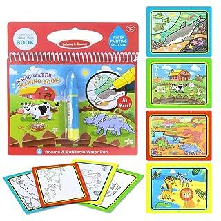 Jenilily Magic Water Drawing Book Libro da colorare Acqua Doodle Penna Magica Quadro Dipinto Educazione per Bambini Giocattolo da Disegno (3PCS)