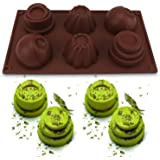 Beasea 6-Cup Silicone Muffin Pan, Cupcake Baking Mold Muffin Cups Soap Handmade Cookie Cupcake Biscuit Chocolate Mousse Mold Cake Decorating Bakeware Pastry Tray