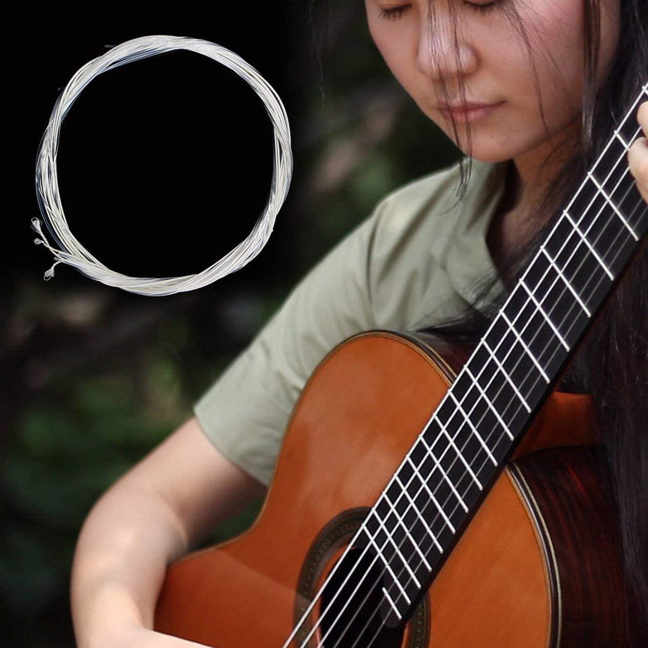 Accessoires et Parties Basses Guitarra Nylon Argent Clair et Argent pour Guitare Classique Classique 1M 1-6 EBGDAE Ironheel Jeu de Cordes pour Cordes Guitare