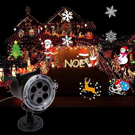 Luces De Proyector De Navidad Decoraciones Navideñas Al Aire Libre ...