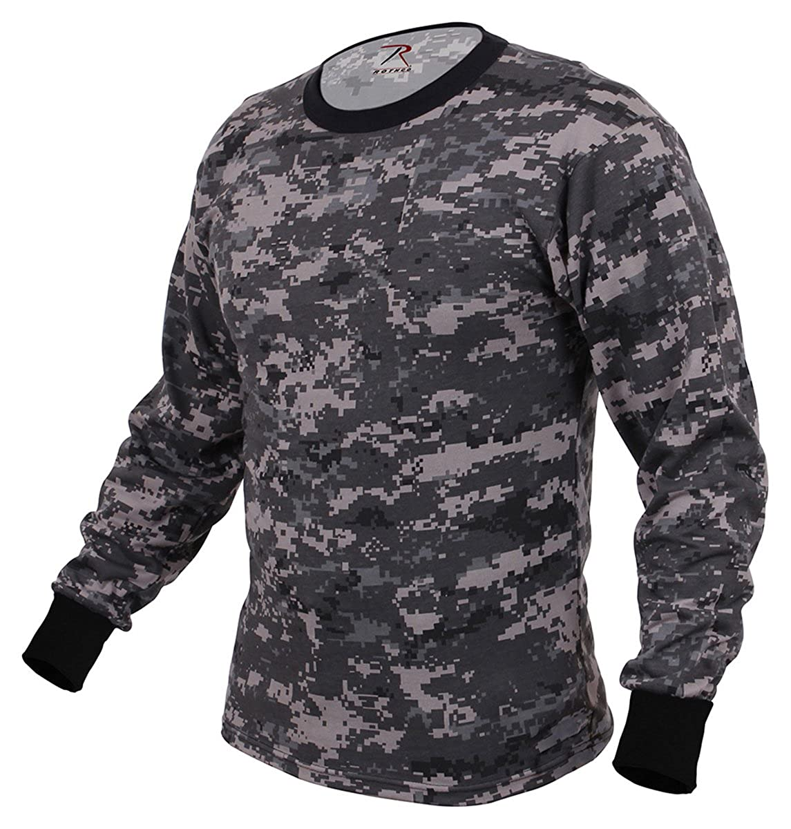 Rothco Long Sleeve Digital Camo T-Shirts, Subdued Urban Digital Camo - X Large RSR Group Inc 67780XLRG