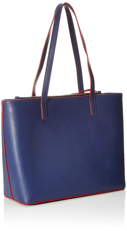 Love Moschino dam Borsa Pu bärväska (tygpåse), 26 x 13 x 36 centimeter Blå (blå)