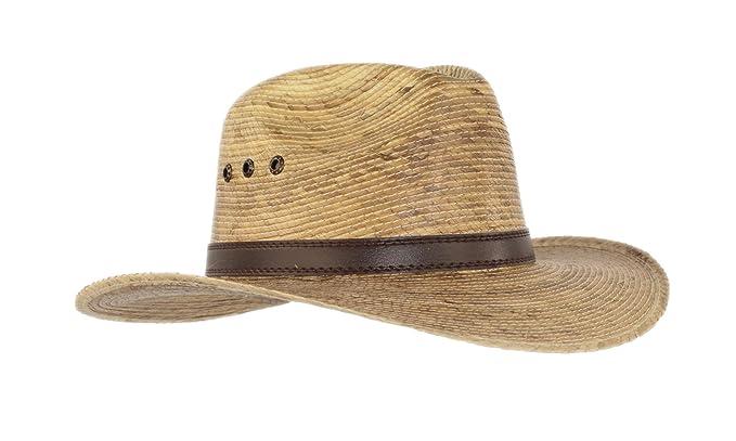 cb18a8e0b Palm Leaf Straw Trilby Wide Brim Fedora Golf Sun Hat for Men or Women, UV  UPF Protection