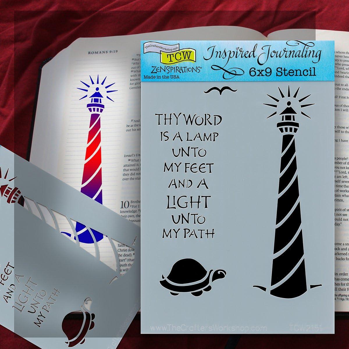 Bible Journaling Stencil 6 X 9 Lighthouse