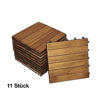 Extremely Giomoebel® 11er Set Holzfliesen für 1m², Variante 1  JQ92